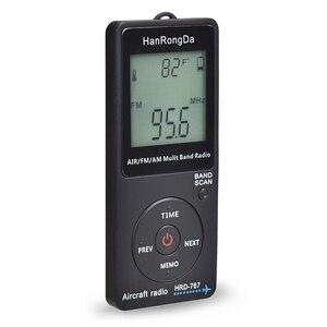 Image 2 - HanRongDa HRD 767 FM/AM/אוויר רב להקת רדיו להקת מטוסי רדיו מקלט Blacklit LCD תצוגת מנעול כפתור עם אוזניות