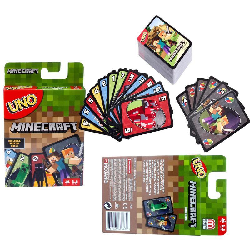 Игра для игры в майнкрафт UNO Mattel, Веселая многопользовательская игрушка, дизайнерские платные настольные игры, карточки, игрушки для вечерн...