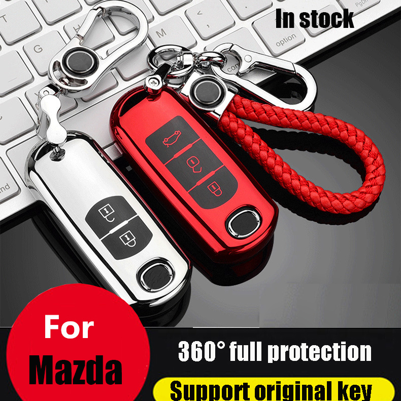 ZOBIG TPU+PC Car Key Cover Case fit for <font><b>Mazda</b></font> 2 <font><b>3</b></font> 5 6 <font><b>2017</b></font> <font><b>CX</b></font>-4 <font><b>CX</b></font>-5 <font><b>CX</b></font>-7 <font><b>CX</b></font>-9 <font><b>CX</b></font>-<font><b>3</b></font> <font><b>CX</b></font> 5 Accessories image