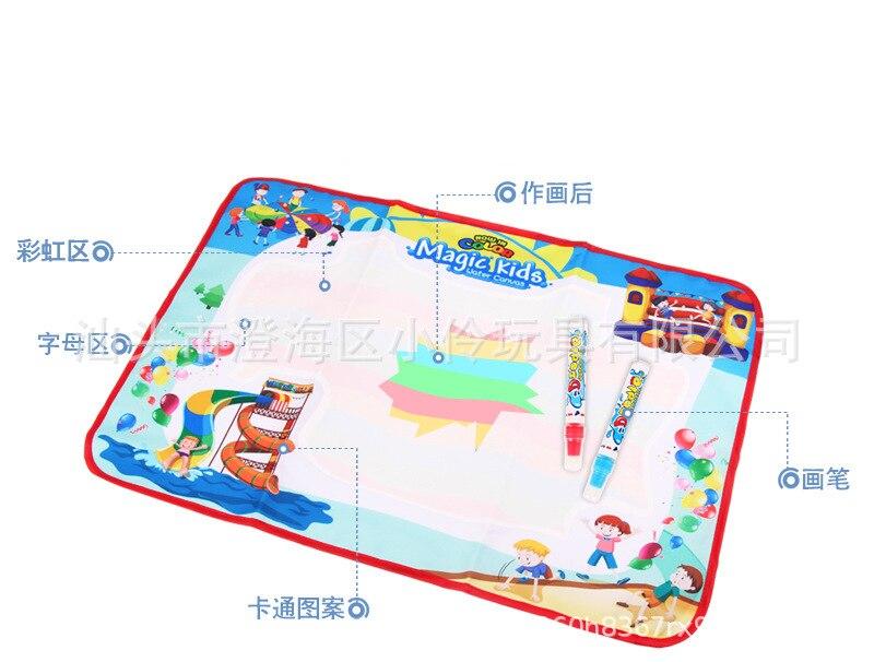 70X45 Kinderen Magische Water Canvas Kleur Huiswerk Deken Graffiti Deken Bao Yi Intellectuele Vroege Onderwijs Schilderen Speelgoed