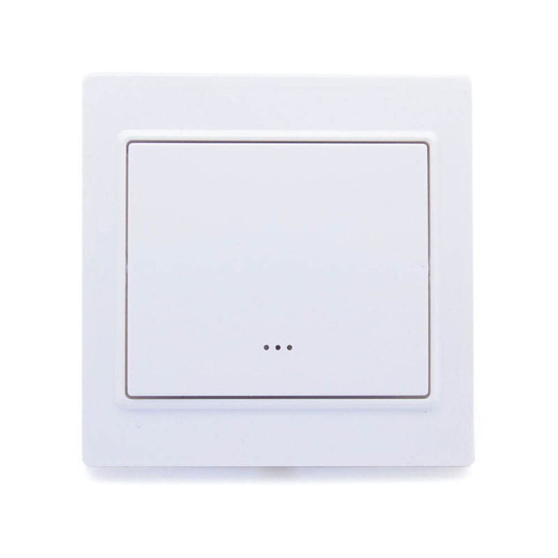 ZWAVE Plus Smart Light Switch Panel Wall One Gang Single Wall Light Switch Smart Home Automation EU 868.4MHZ