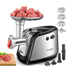 Meat Mincer Food-Processor Stuffer Home-Sausage 1200W Heavy-Duty Max-Powerful 3-IN-1
