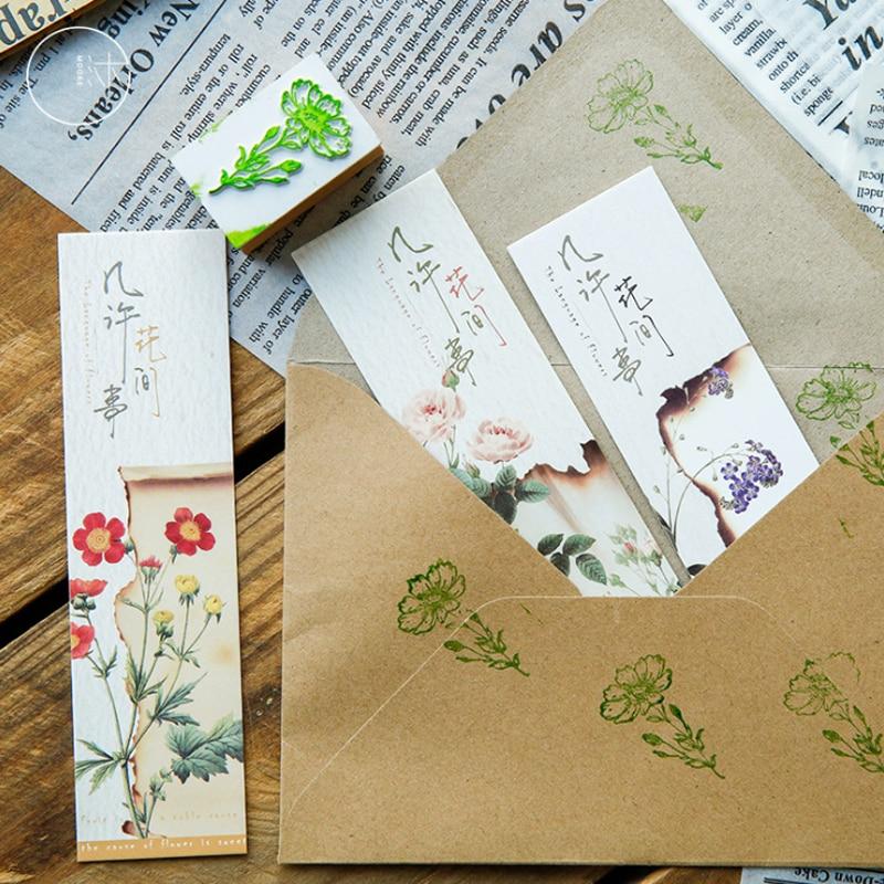 10sets/lot 30Pcs Per Set NEW Retro Plant Bookmark Flowers Series Book Holder Bookband Wholesale
