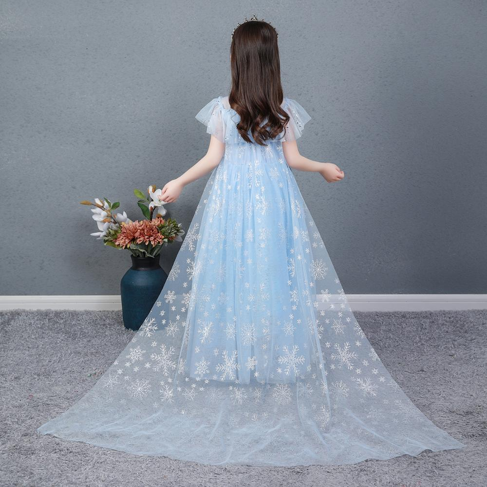 AngelGirl Elegant Girls Princess Dress Princess Theme Party Dresses Gown Xmas Cosplay Costumes for Birthday Halloween Chrismas 4