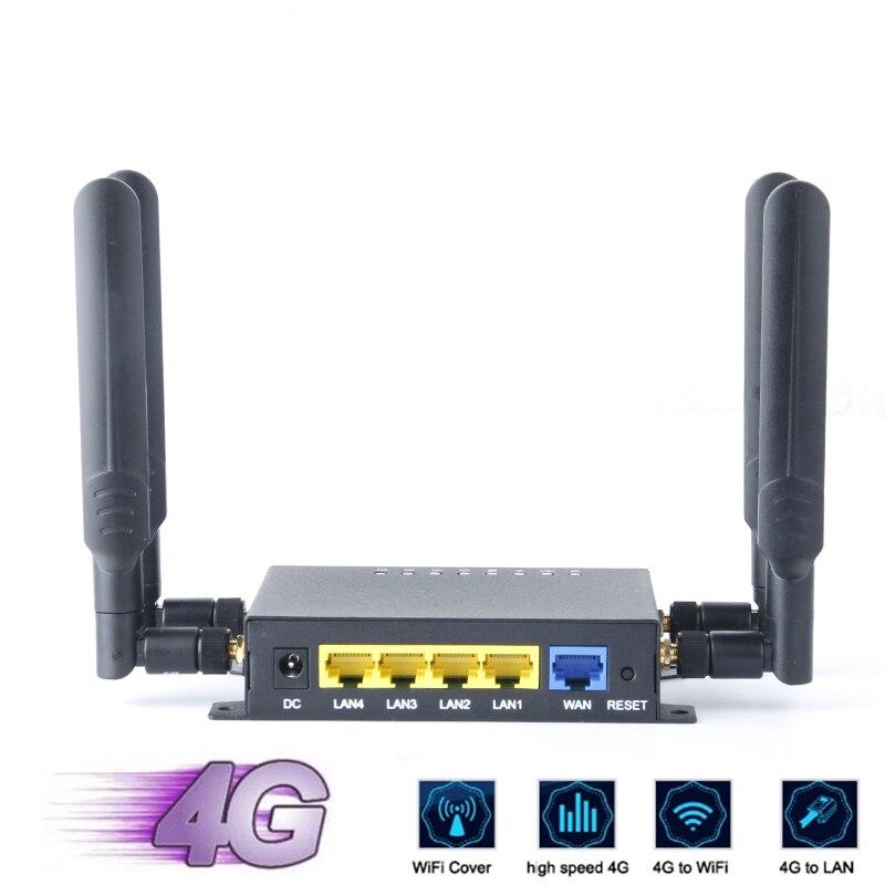 300 Мбит/с LTE Wi-Fi роутер 3G 4G беспроводной роутер CPE со слотом для SIM-карты, usb-порт и 4 антенны с высоким коэффициентом усиления, поддержка OpenWRT