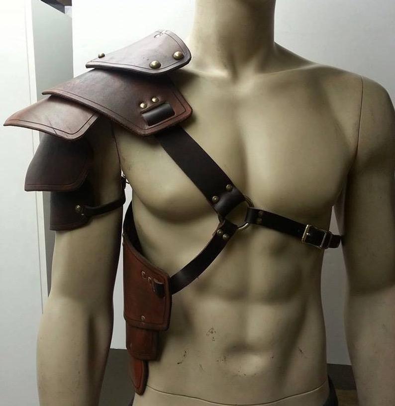 Medieval Viking Gladiator Samurai Battle Knight Pauldrons Shoulder Armor Renaissance Vintage Party props Cosplay(China)