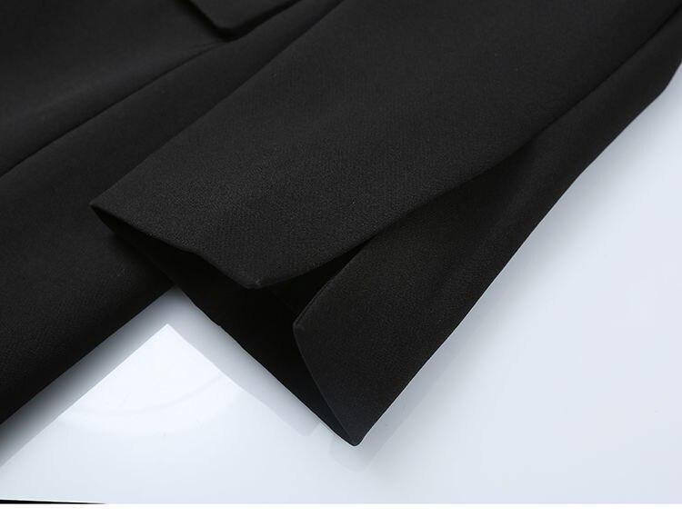 Elegant Black Single Button Women Blazer Jacket 11