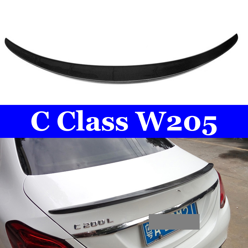 For <font><b>Mercedes</b></font> W205 <font><b>Coupe</b></font> 2-door Sedan 4-doorC180 C200 C250 <font><b>C300</b></font> C400 2015+ Car Rear Trunk Carbon Spoiler Wing image