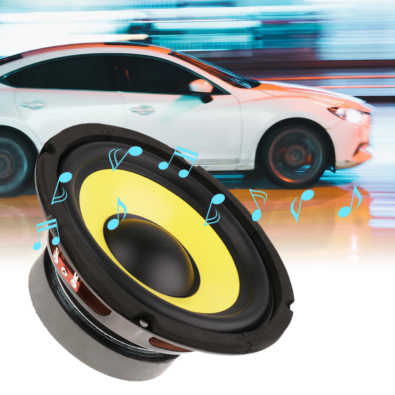 6.5'' 50W Car Audio Stereo Horn Subwoofer Bass HIFI Speaker 4 Ohm Magnet For Car Truck RV Camper Boat Yacht Etc Woofer Speaker