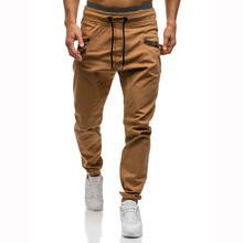 Men Pants Joggers Sweats Beamed feet Trouserspants  Casual Pants for Men Pocket puzzles Trousers Gray Black цены онлайн