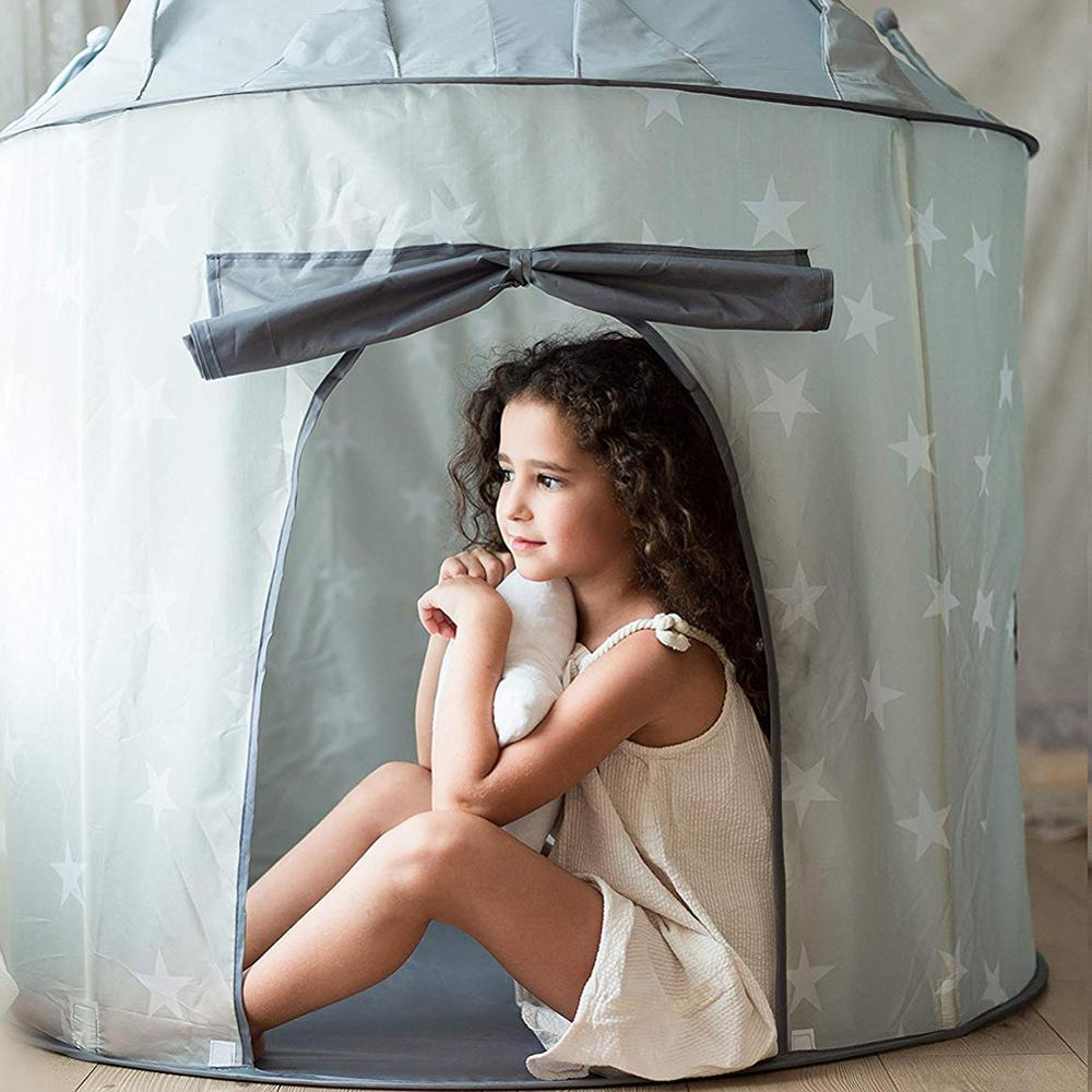 Foldable Portable Princess Castle Tulle Children Kids Game Play Tent Creative Develop Outdoor Indoor Yurt Castle Playhouse Toys
