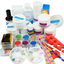 COSCELIA Nail Acrylic Kit Powder Glitter Manicure Set For Nails Art Crystal Rhinestone Brush Tools