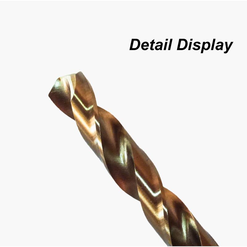 5Pcs High Hardness Cobalt Twist Drill Bits HSS Co Steel Straight Shank Diameter 1mm2mm3mm4mm5mm Twist Drill Bit Power Tools (1)