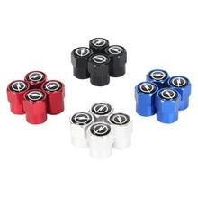 4 pçs de alumínio da roda do pneu carro válvula caule caps para opel zafira b corsa d insignia mokka regal acessórios do carro