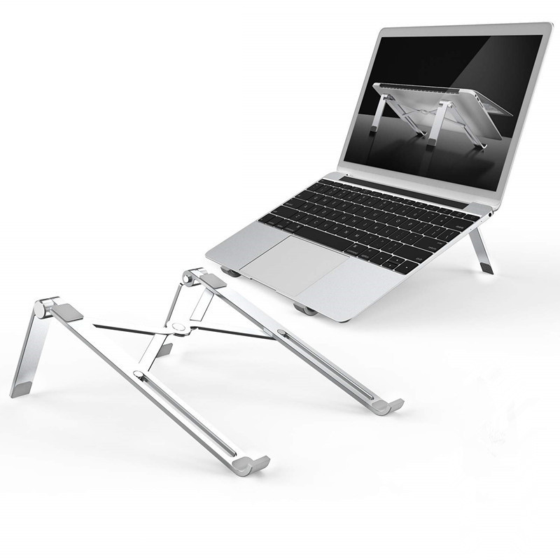 Fast Folding X Style Adjustable  Aluminum Laptop Stand Desktop Notebook Holder Desk Laptop Stand For 7-15 Inch Macbook Pro Air