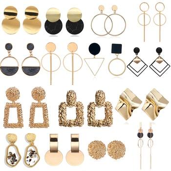 Fashion Statement Earrings 2020 Large Geometric Round Earrings For Women Hanging Swing Earrings Modern Female Earrings Jewelry