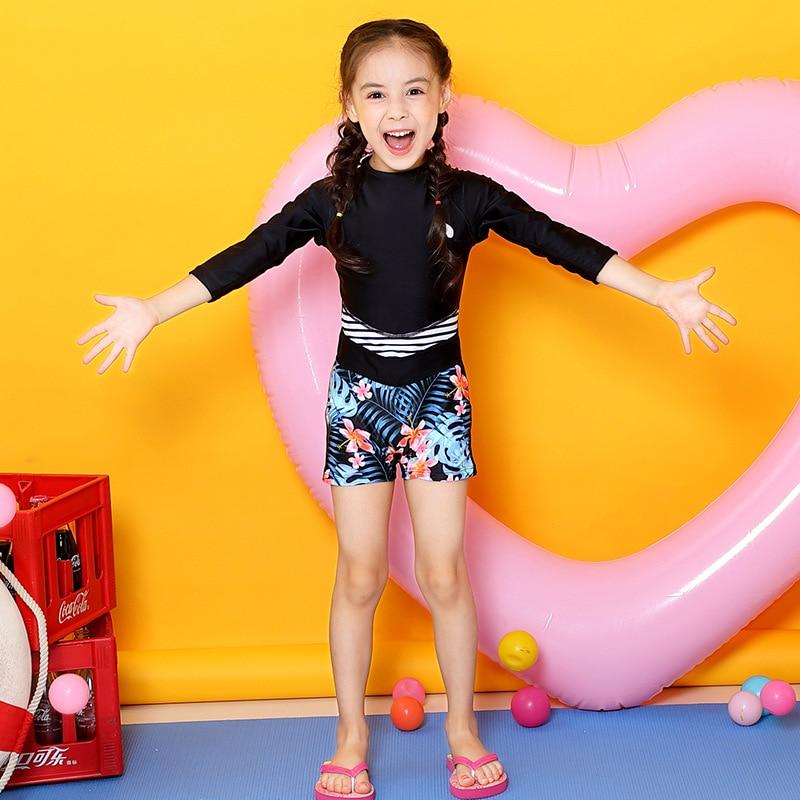 Printed Boxer KID'S Swimwear Girls Sun-resistant Long Sleeve Jellyfish Clothing Snorkeling Tour Bathing Suit BOY'S Big Kid Hot S