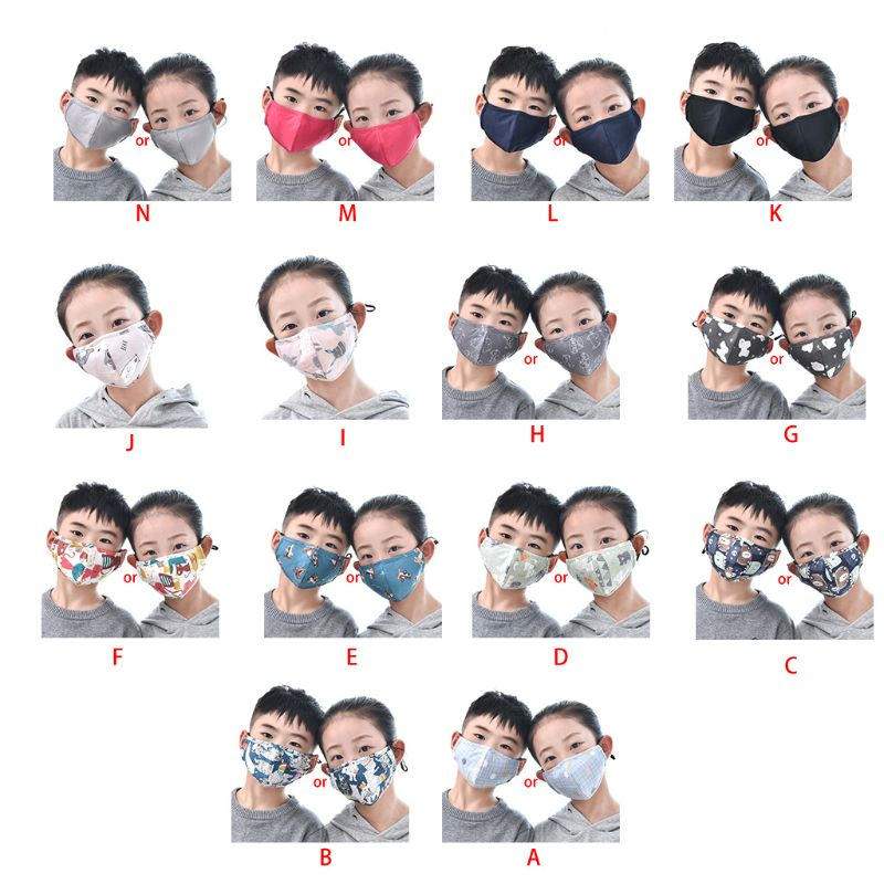 Cotton Children Mouth Face Mask Anti Dust Pollution Respirator Washable