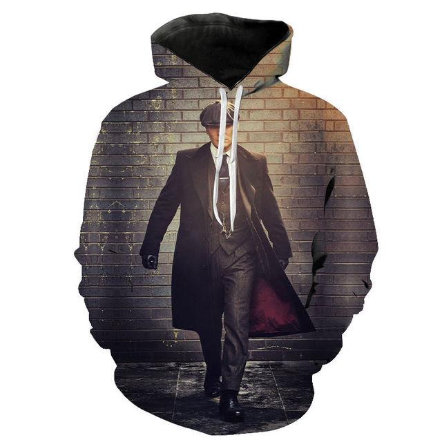Peaky Blinder Hoodie hombres mujeres 3D impreso Hoodies moda Harajuku Pullover Cool con capucha Streetwear sudadera Pullover
