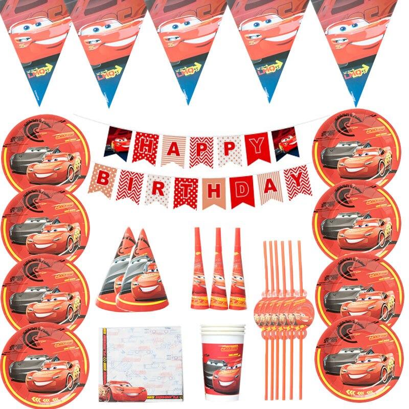 Disney Cars детского дня рождения с изображением деревянной стены вечерние свадебные украшения поставки одноразовая посуда высокого качества б...