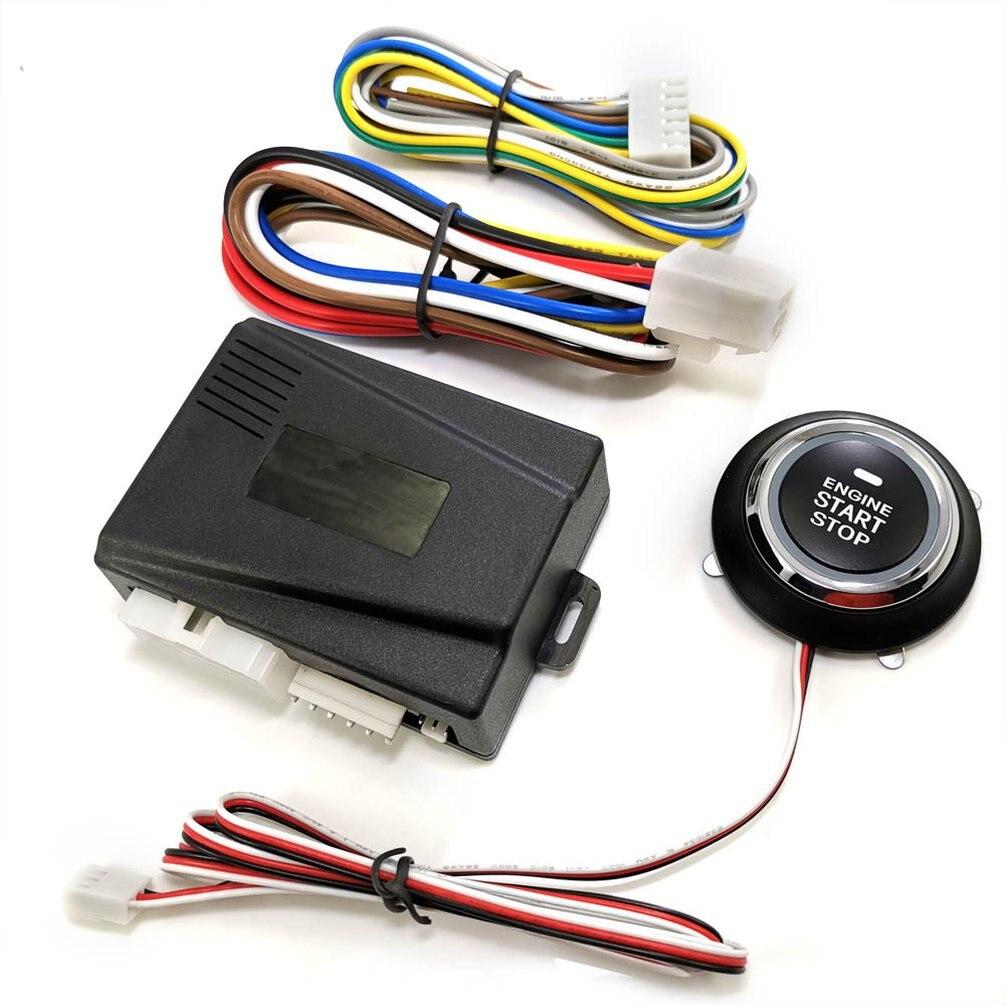 Botão de partida do motor do carro botão de partida de ignição keyless start stop botão de parada de partida do motor remoto 9001