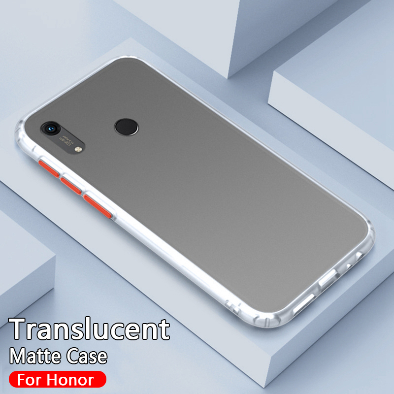 Translucent Matte Case For Huawei Honor 8a Pro 8x 8s Shockproof Hard PC Cover For Huawei Honor 9X 20 Pro 10i View 30 Case Fundas
