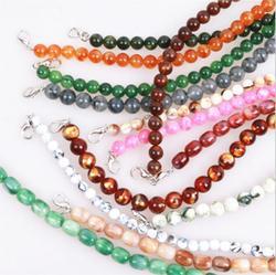 (10 Piece/lot) New Handbag Retro Art Beaded Acrylic Chain 30cm Accessories