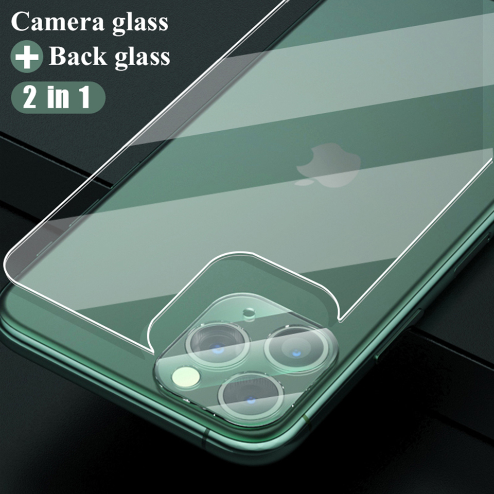 3-in-1 Full Cover For iPhone 11 Screen Protector X XR XS Max Back Tempered Glass On For iPhone 11 Pro 7 8 Plus Camera Lens Film