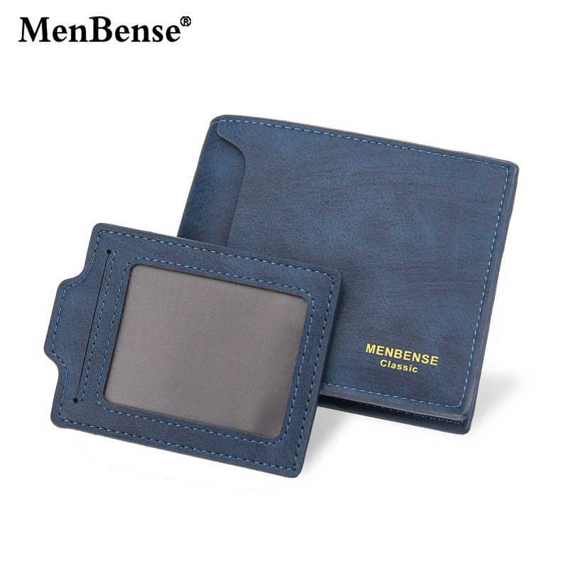 MenBense Men's Wallet Multi-card Draw Card Short Wallet PU Leather Solid Color Clutch Bag Men's Casual Vintage Fashion Wallets