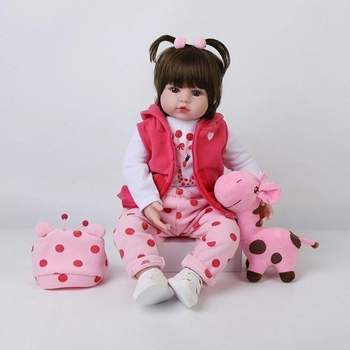 Pink Girl Toys 48cm/18 inch Soft Silicone Reborn Dolls Surprises Gifts Baby Realistic Doll Reborn Reborn Doll For Boy Girl Gifts 48cm reborn baby doll toddler girl pink princess soft full body silicone babies dolls lifelike realistic bonecas toys for kids