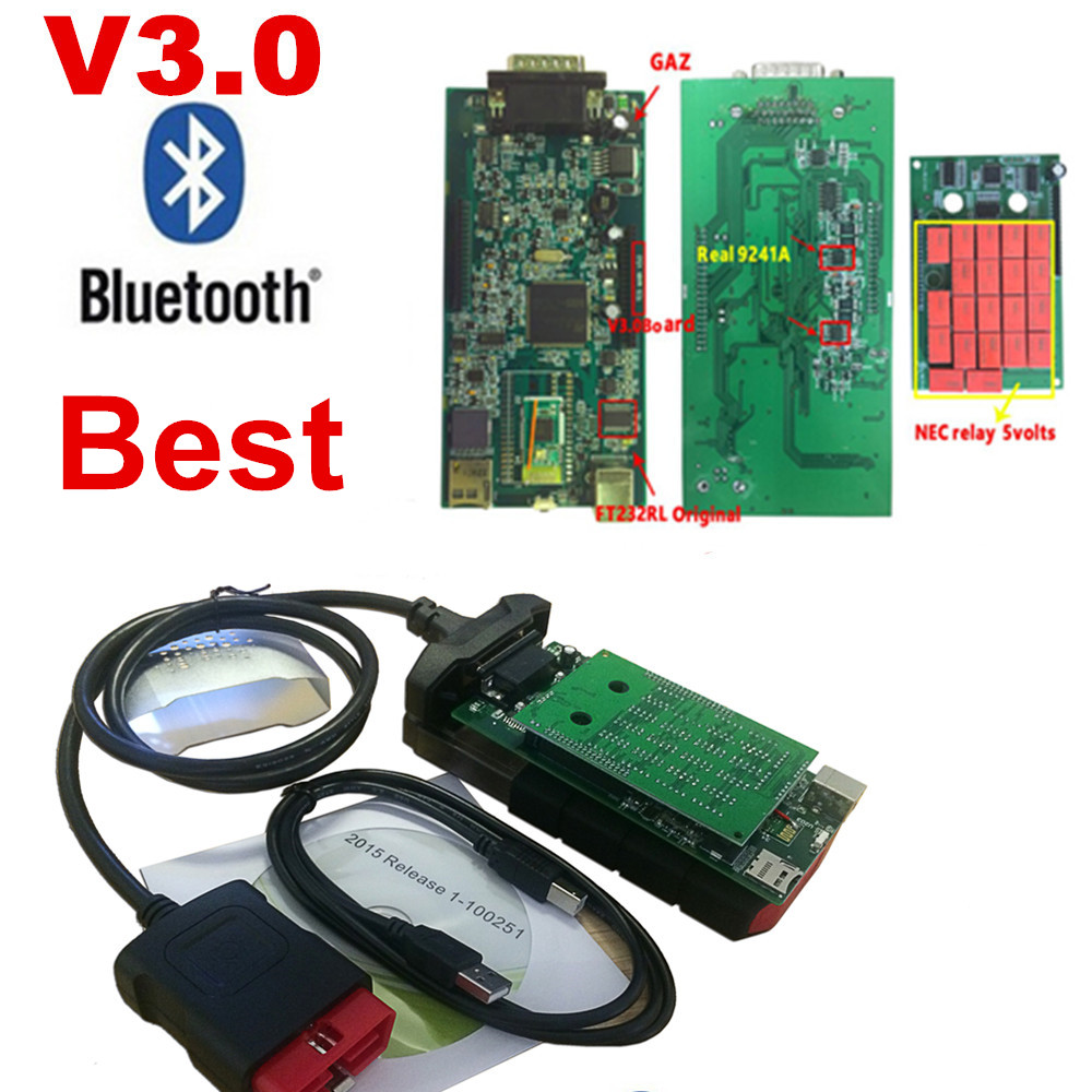 2016R0 newest version/15R3 For VD TCS CDP PRO obd2 scanner car truck cable kit for delphis VD ds150e cdp diagnostic tool new vci