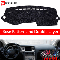 Rose Pattern For AUDI Q7 2006 2007 2008 2009 2010 2015 Dashboard Cover Car Stickers Car Decoration Car Accessories Car Decals