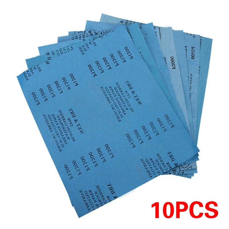 10pcs Sanding Wet/dry Waterproof Abrasive Sandpaper Paper Grit 1500/3000/5000 280x230mm Abrasive Tool