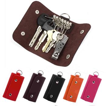 PU Leather klucz gospodyni posiadacze brelok do kluczyków samochodowych portfel na klucze pierścień torba na klucze skrzynki pokrywa skórzany na klucze uchwyt brelok dla kobiet mężczyzn tanie i dobre opinie LKEEP CN (pochodzenie) Unisex 10 4cm Kluczowe portfele JO997748 Moda Poduszki Stałe