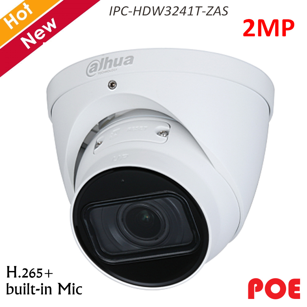 Dahua IP Camera IPC-HDW3241T-ZAS 2MP Lite AI IR Vari-focal Eyeball Network Camera H.264+ H.265+ Built-in IR LED And MIC