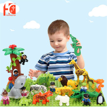 Building-Block-Accessories Child for Kids Boy Blocks Simulation-Model Triceratops-Toys