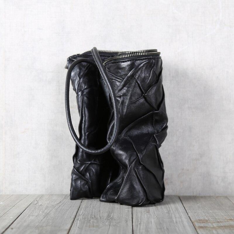 Bolso de mano de piel de oveja superior de cuero genuino suave Casual para hombre carteras largas bolso de teléfono de gran capacidad para mujer bolso de negocios - 5