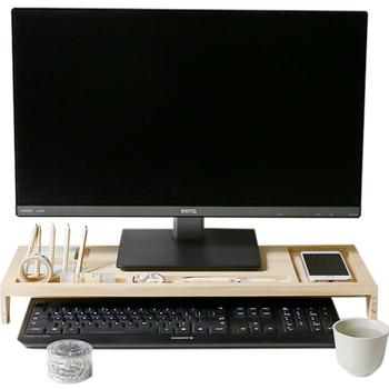 Komputer biurkowy klawiatura uchwyt na przybory biurowe drewniane kreatywne biuro szkolne akcesoria biurowe Organizer uchwyt na przybory biurowe tanie i dobre opinie QKGQK Drewna KC290 Papeteria posiadacze