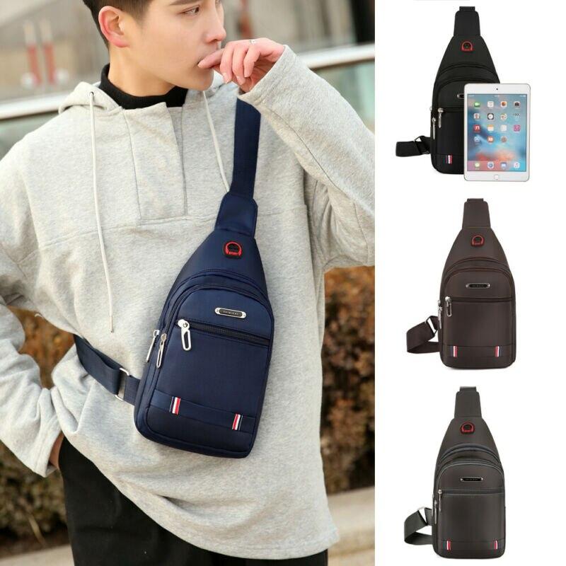 Мужская сумка-слинг из ткани Оксфорд, нагрудный рюкзак на плечо, дорожная спортивная сумка, сумка через плечо