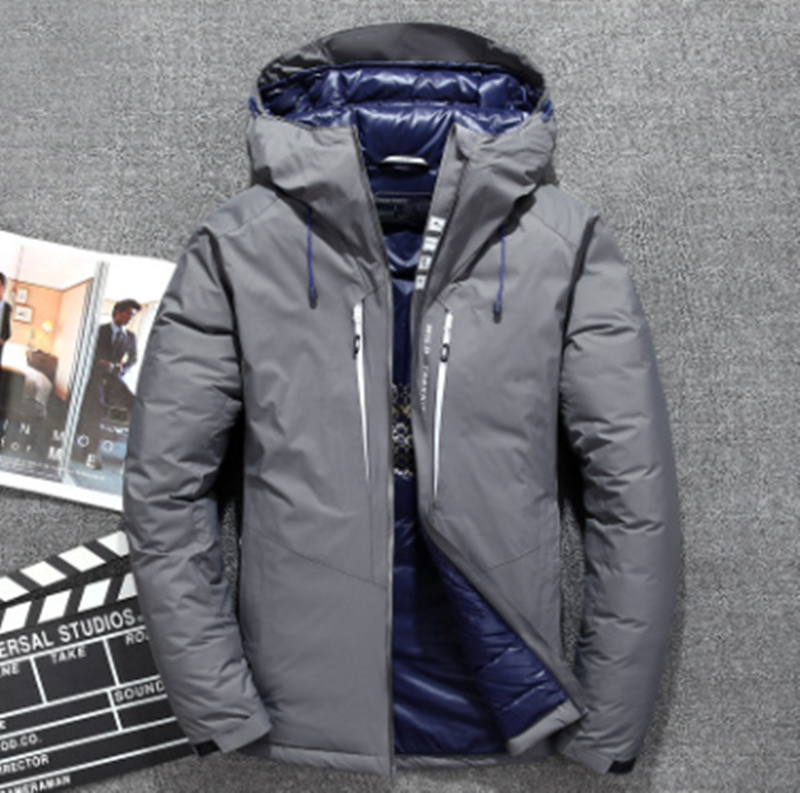 Brand Winter Men Down Jacket Thick Warm Clothing 80% White Duck Down Men Down Jacket Goose Feather Parka Russian Coats