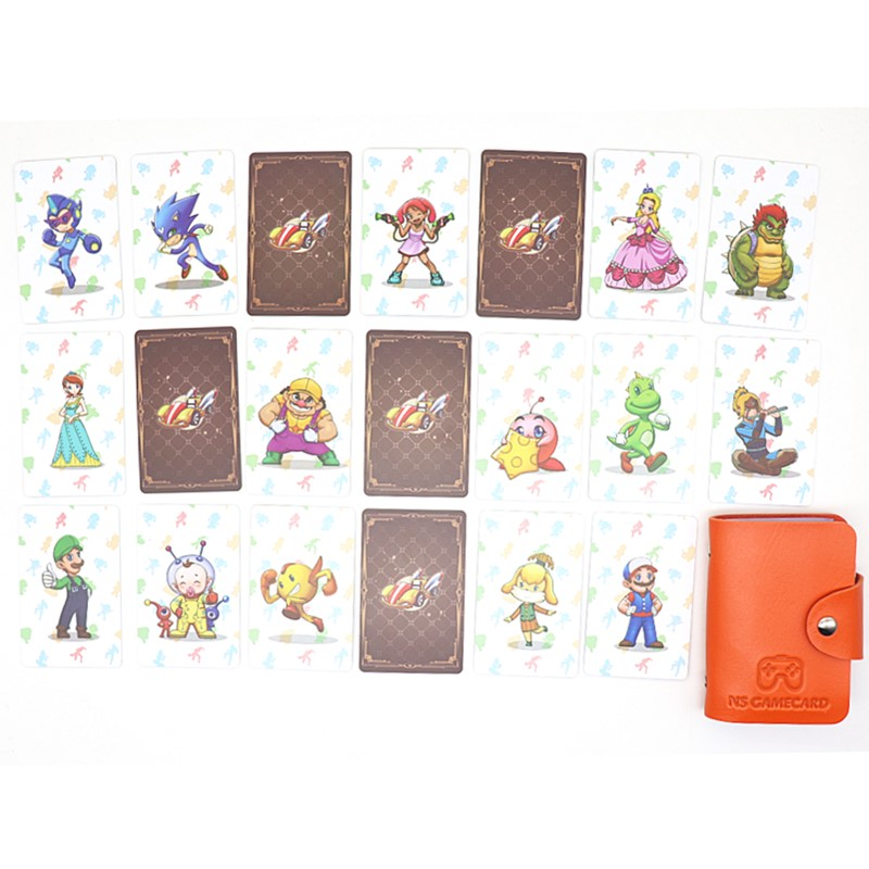 20pcs/Set <font><b>Mario</b></font> Kart 8 Deluxe Standard Game <font><b>Card</b></font> For <font><b>Amiibo</b></font> NS Switch WiiU Collection Ntag215 NFC Printed Sticker Tag image