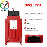 2019 Original SVCI J2534 OBD2 Diagnostic Tool Support Online Module Programming Almost Cover ELM327 Software