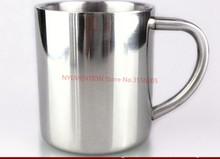50pcs double-layer 304 Stainless Steel Espresso Coffee mug, Solid Color Coffee cup, water cup(China)
