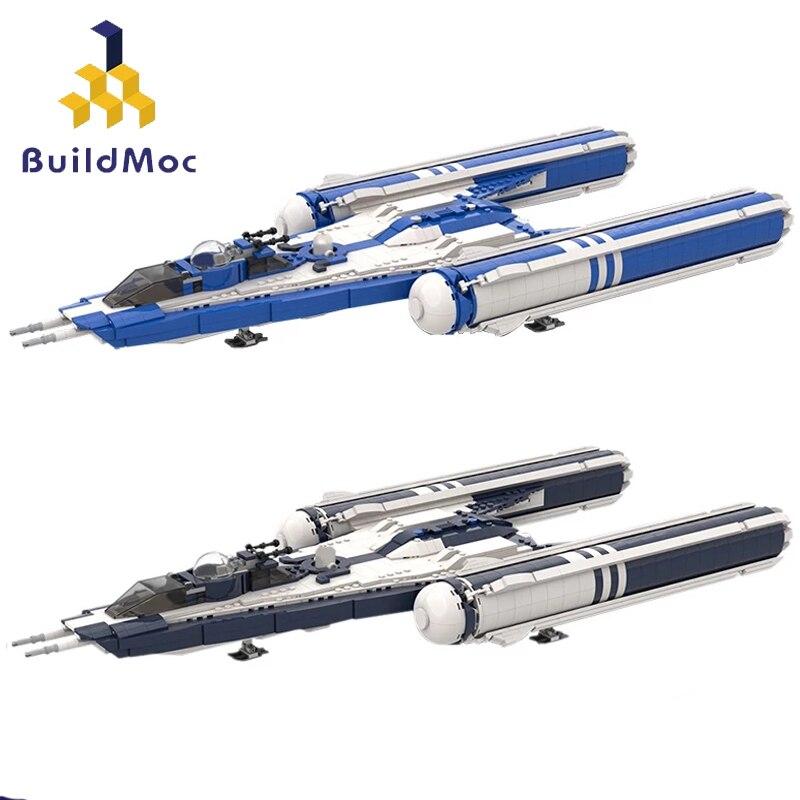 Buildmoc Space Wars оружие космический корабль фильмы клонов 7 BTL-B Y крыло старфайтерах, строительные блоки, игрушки для детей, подарки
