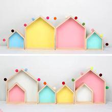High Quality 2PCS Kids Room Decoration Wooden Shelf For Kids Room Nursery Decoration