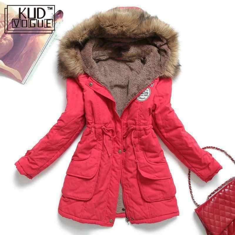 חורף מעיל נשים עבה חם סלעית Parka Mujer כותנה מרופד מעיל ארוך סעיף בתוספת גודל 3xl Slim מעיל נקבה