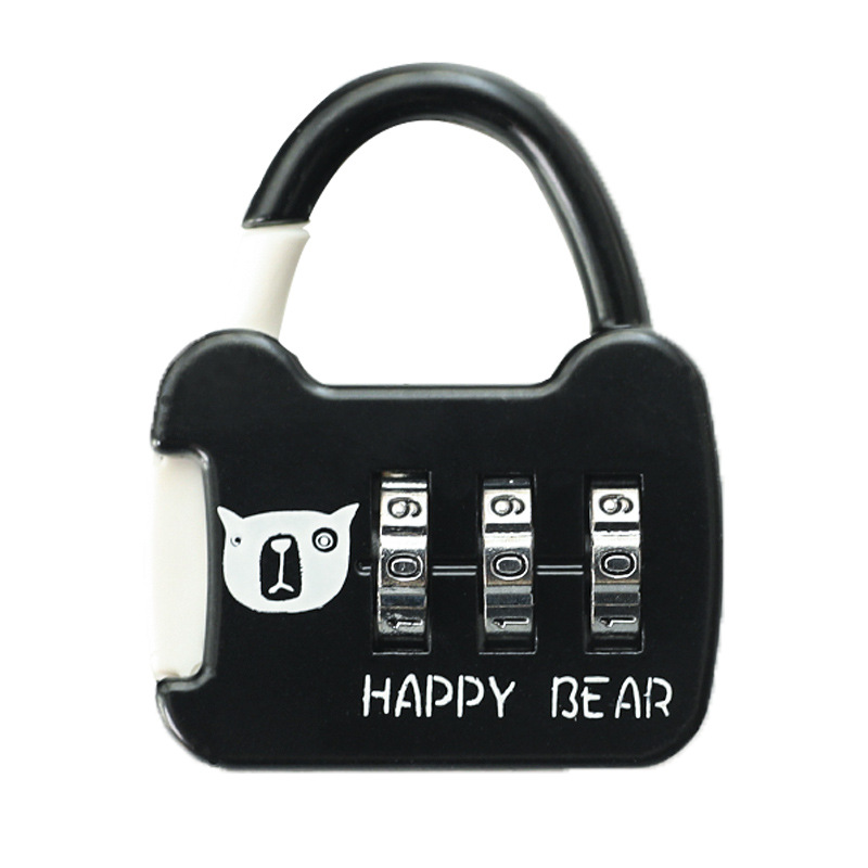 Luggage Combination Lock Padlock Cabinet Lock Cute Small Mini Student Schoolbag Pencil Case Diary Combination Lock