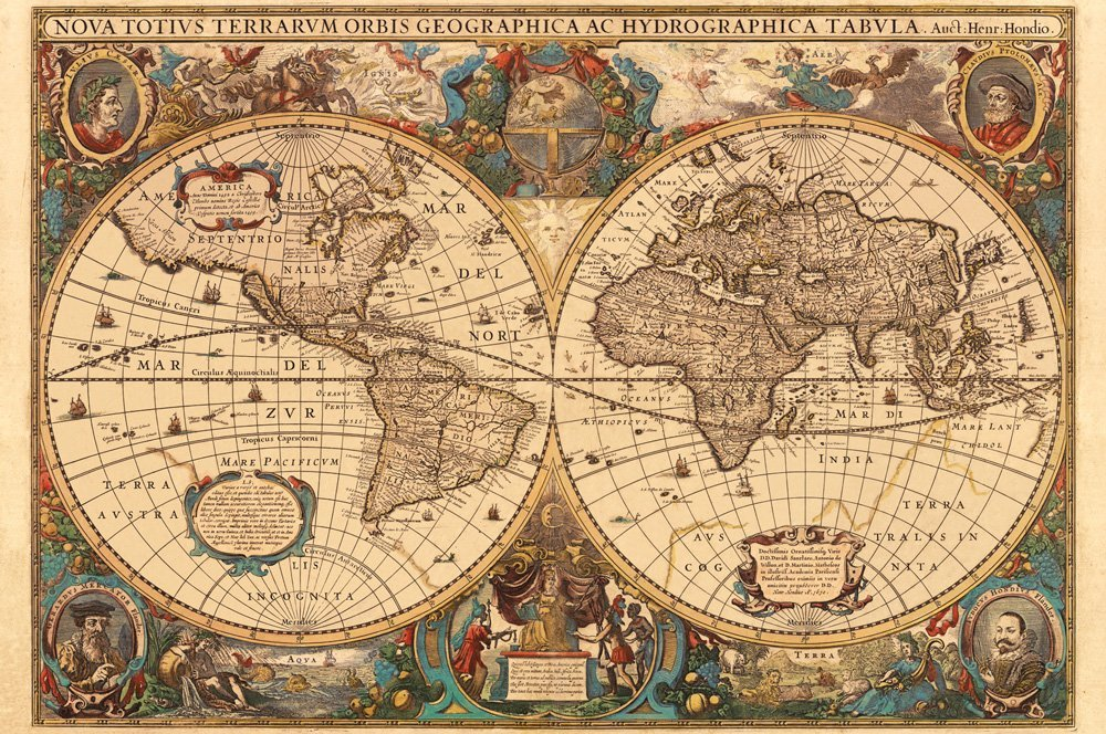 Assembling 1630 World Map 5000 Pieces Jigsaw Puzzle For Adult Gift
