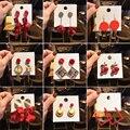 2019 Новый Мода китайский Новый год Праздник веселый китайские стильные серьги женский онлайн агентов влияния серьги штифты серьги красные с...