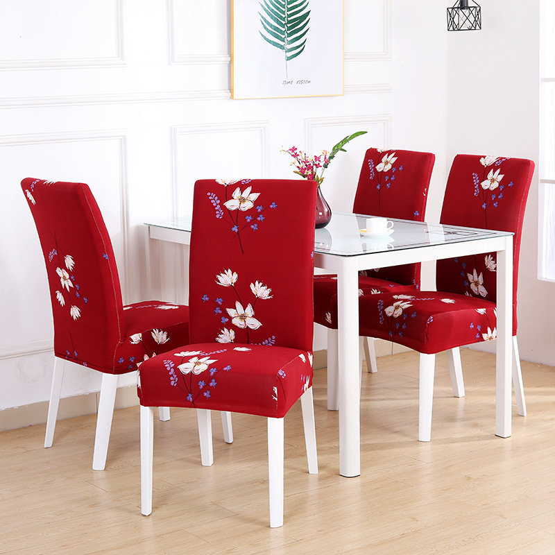 1/2/4/6PCS Stretch Chair Cover Big Elastic Kitchen Chair Cover Dining Seat Cover Removable Slipcovers Restaurant Banquet Hotel